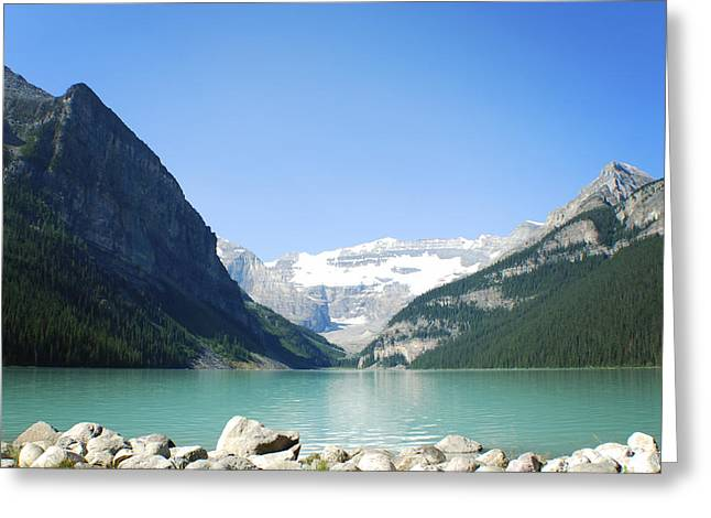 Lake Louise Photography Greeting Cards - Lake Louise Alberta Canada Greeting Card by Terry DeLuco