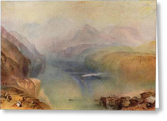 Jmw Greeting Cards - Lake Lucerne 1802 Greeting Card by Joseph Mallord William Turner