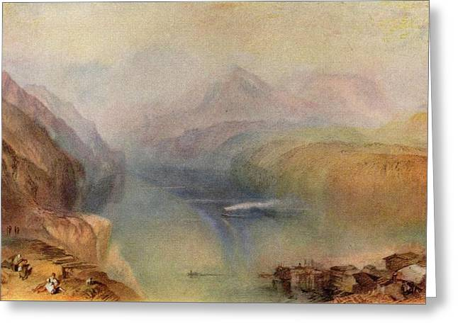 Painter Of Light Greeting Cards - Lake Lucerne 1802 Greeting Card by J M W Turner