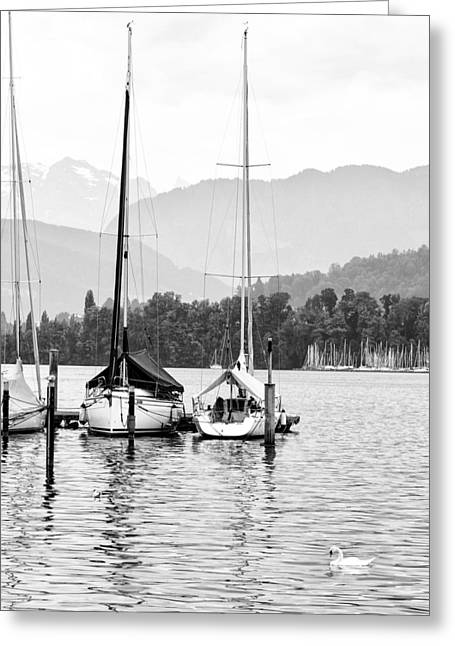 Lucerne Greeting Cards - Lake Lucerne Switzerland  Greeting Card by Nian Chen