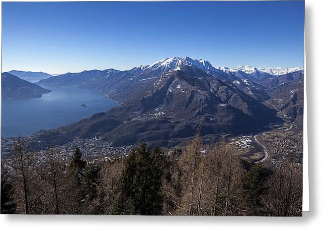 Piedmont Greeting Cards - Lake Maggiore and Centovalli Greeting Card by Joana Kruse