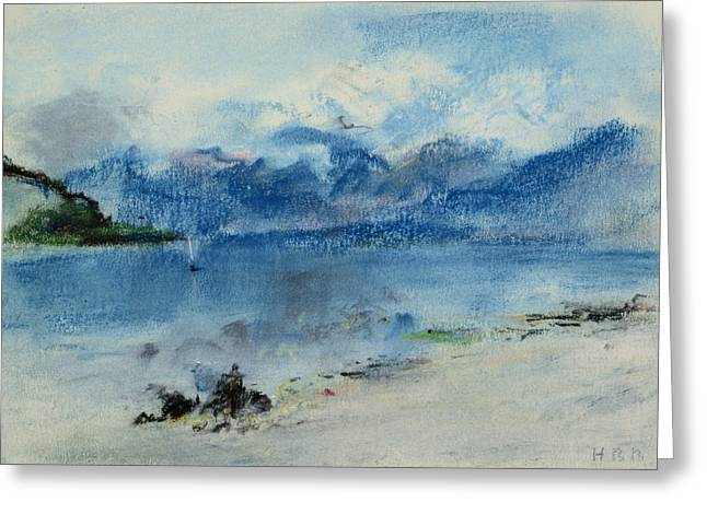 Hills Greeting Cards - Lake Maggiore Greeting Card by Hercules Brabazon Brabazon
