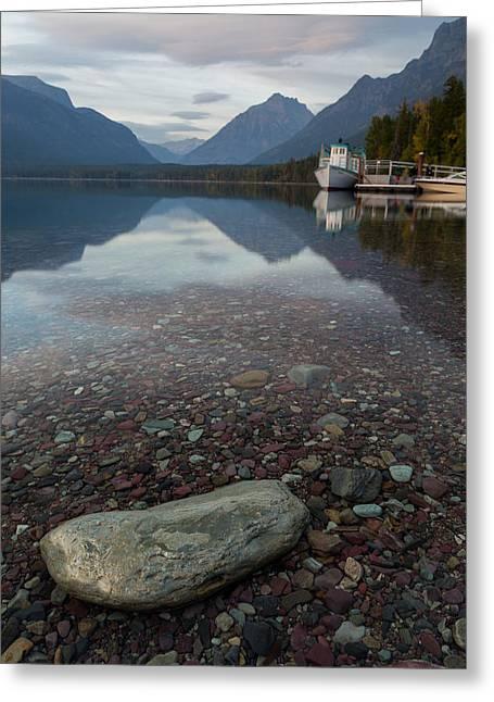 Lake Mcdonald Greeting Cards - Lake McDonald Evening Greeting Card by Matthew Parks