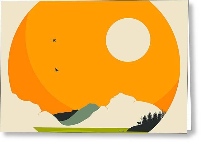 National Digital Greeting Cards - Lake Mcdonald Glacier National Park Greeting Card by Jazzberry Blue