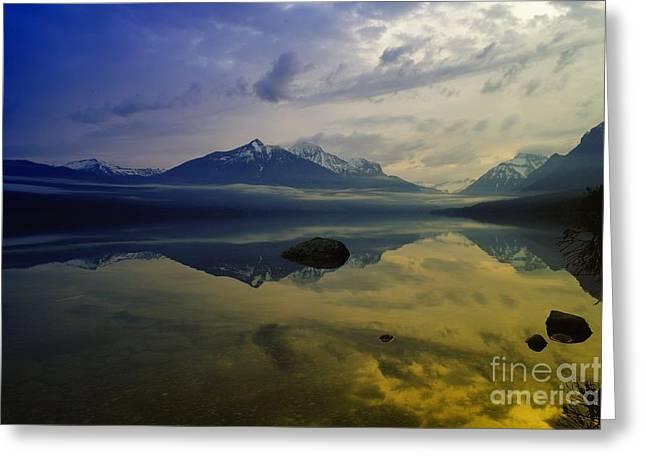 Lake Mcdonald Greeting Cards - Lake Mcdonald Glacier National Park Greeting Card by Jeff  Swan