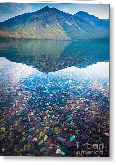 Lake Mcdonald Greeting Cards - Lake McDonald Greeting Card by Inge Johnsson