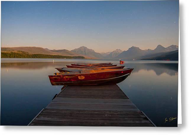 Apgar Greeting Cards - Lake McDonald Greeting Card by Jon Erdmann