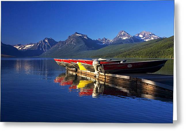 Glacier Greeting Cards - Lake McDonald Morning Greeting Card by Mark Kiver