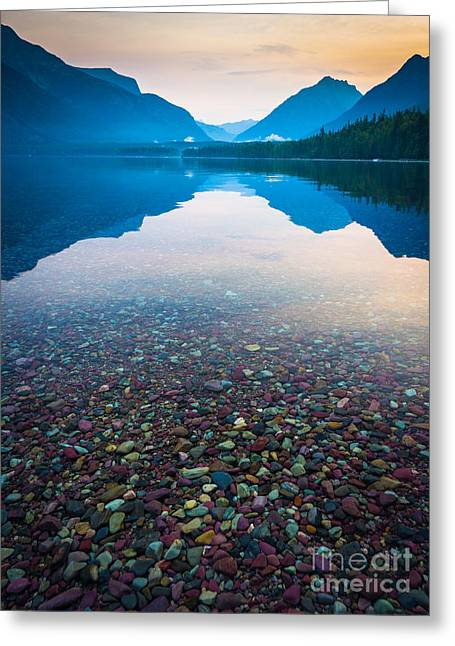 Lake Mcdonald Greeting Cards - Lake McDonald Serenity Greeting Card by Inge Johnsson