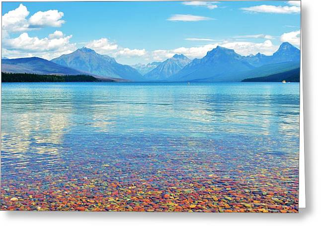 Lake Mcdonald Greeting Card by Shannon Lee