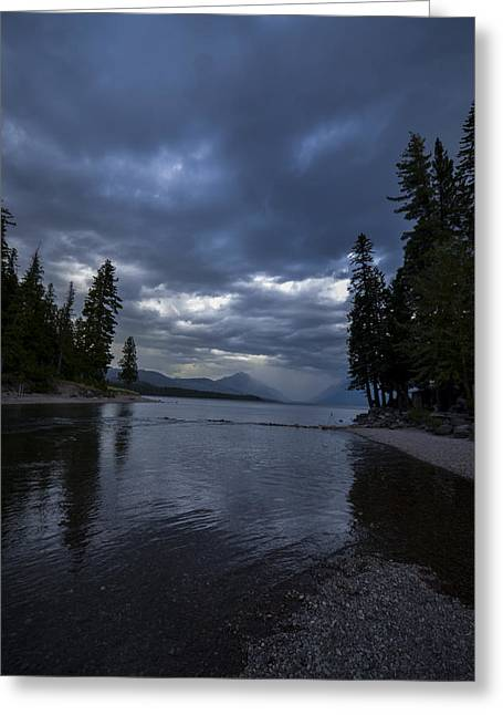 Apgar Greeting Cards - Lake McDonald Storm Greeting Card by Nick Garner
