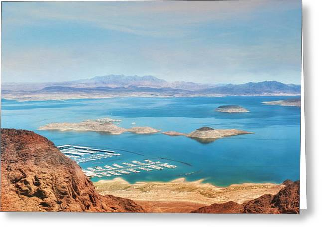 Hoover Dam Greeting Cards - Lake Mead National Recreation Area Greeting Card by Lori Deiter
