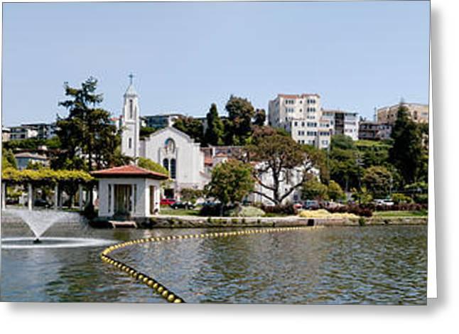 Merritt Greeting Cards - Lake Merritt In Oakland, California, Usa Greeting Card by Panoramic Images