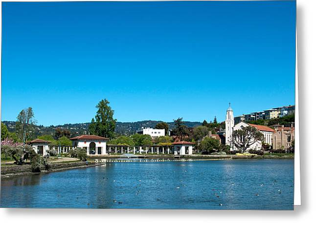 Spring Scenes Greeting Cards - Lake Merritt In Springtime, Oakland Greeting Card by Panoramic Images