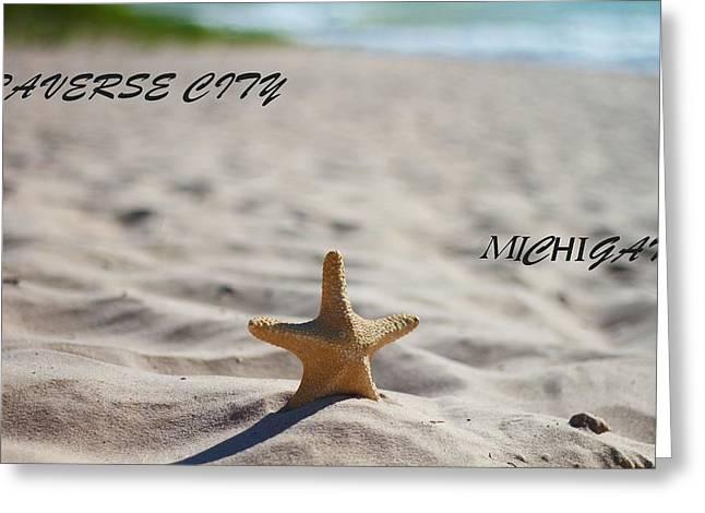 Lake Michigan Beach Traverse City Greeting Card by Dan Sproul