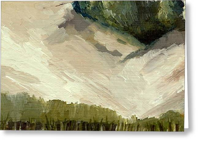Lake Michigan Dune with Trees Diptych Greeting Card by Michelle Calkins