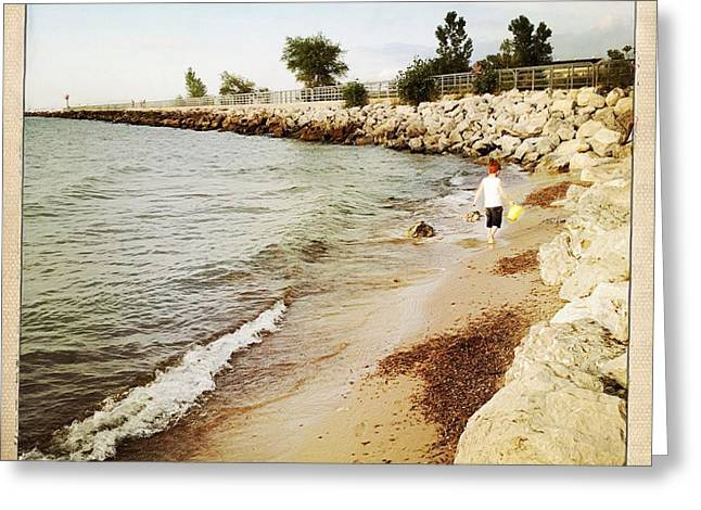 Indiana Rivers Digital Greeting Cards - Lake Michigan  Greeting Card by Lynne Dohner