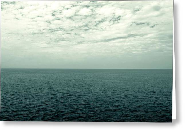 Clean Water Digital Art Greeting Cards - Lake Michigan Midpoint 2.0 Greeting Card by Michelle Calkins
