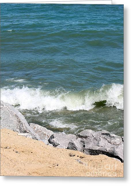 Winthrop Greeting Cards - Lake Michigan Shore Greeting Card by Debbie Hart