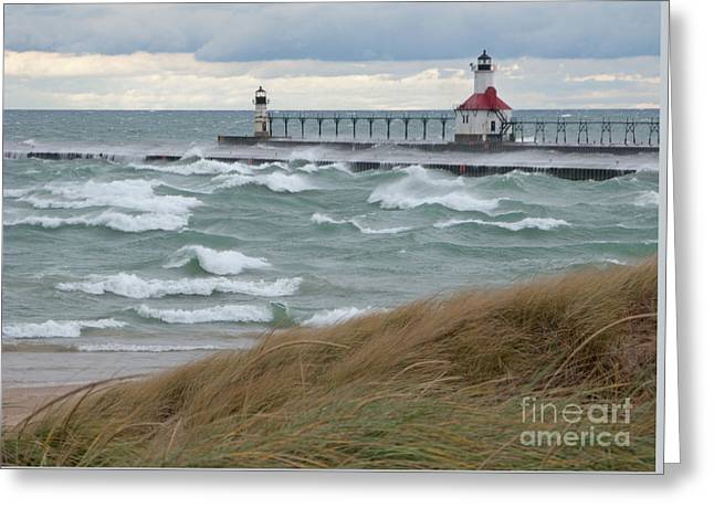 Ann Horn Greeting Cards - Lake Michigan Winds Greeting Card by Ann Horn