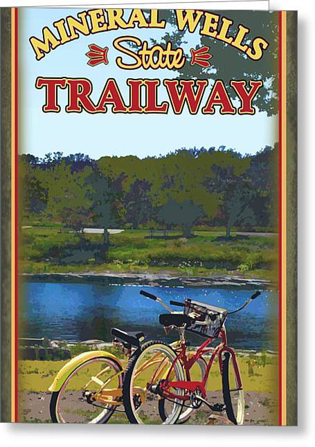 Parks And Wildlife Greeting Cards - Lake Mineral Wells State Trailway Greeting Card by Jim Sanders