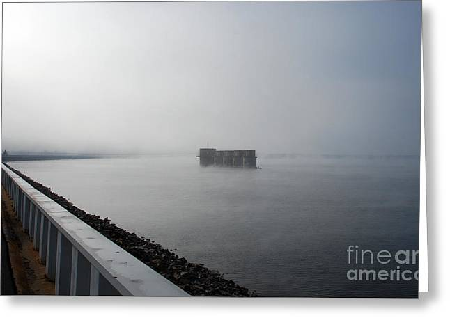 Scenic Tours Greeting Cards - Lake Murray Dam Greeting Card by Skip Willits