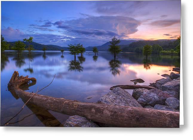 Tn Greeting Cards - Lake Ocoee Greeting Card by Debra and Dave Vanderlaan