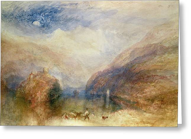 Shepherds Drawings Greeting Cards - Lake Of Brienz Greeting Card by Joseph Mallord William Turner