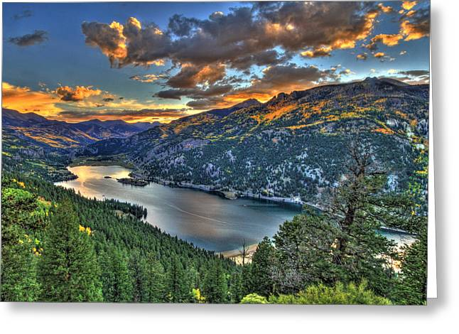 Lake Of Dreams Greeting Card by Scott Mahon
