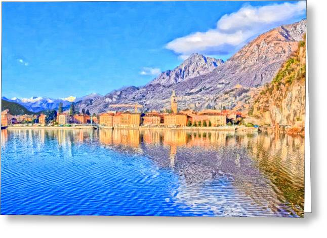 Ticino Canton Greeting Cards - Lake of Lugano Greeting Card by Lanjee Chee