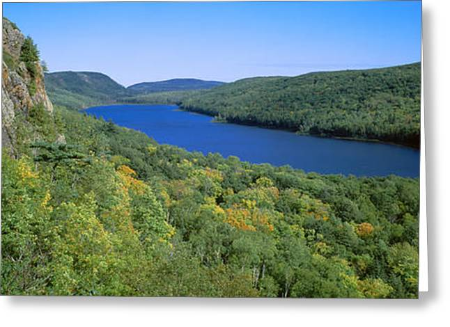 Upper Peninsula Greeting Cards - Lake Of The Clouds In Porcupine Greeting Card by Panoramic Images