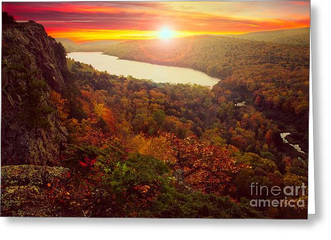 Peninsula State Park Greeting Cards - Lake of the Clouds Greeting Card by Todd Bielby