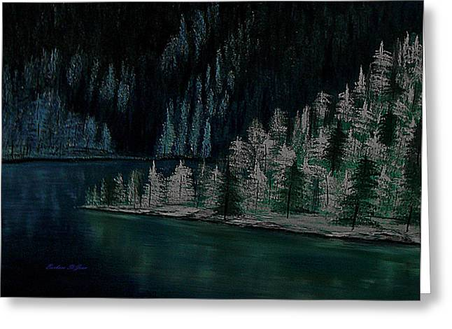Lake Of The Woods Greeting Card by Barbara St Jean