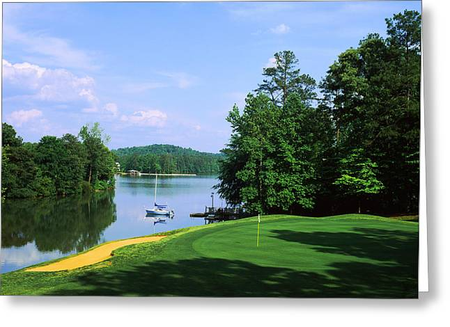 Lake On A Golf Course, Legend Course Greeting Card by Panoramic Images
