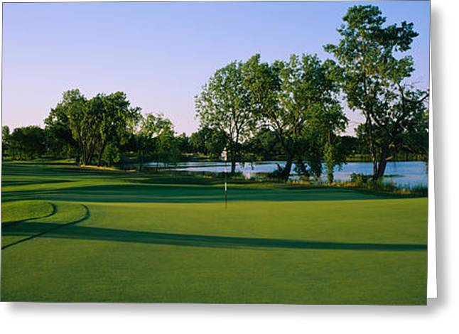 Lake County Greeting Cards - Lake On A Golf Course, White Deer Run Greeting Card by Panoramic Images