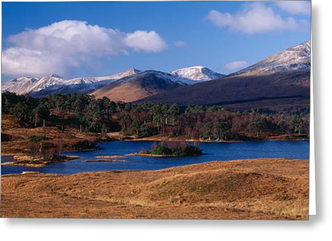 Rannoch Moor Greeting Cards - Lake On Mountainside, Loch Tulla Greeting Card by Panoramic Images