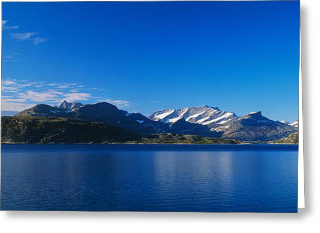 Mountain Greeting Cards - Lake On Mountainside, Sorfolda, Bodo Greeting Card by Panoramic Images