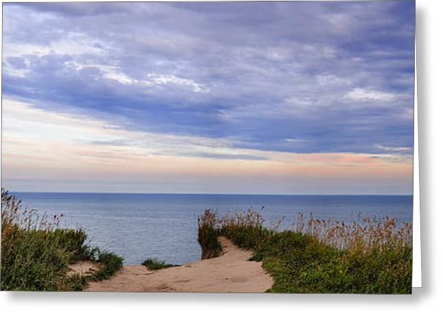 Beautiful Scenery Greeting Cards - Lake Ontario at Scarborough Bluffs Greeting Card by Elena Elisseeva