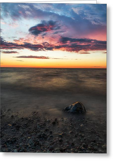 Chimney Rock State Park Greeting Cards - Lake Ontario Sunset Greeting Card by Mark Papke