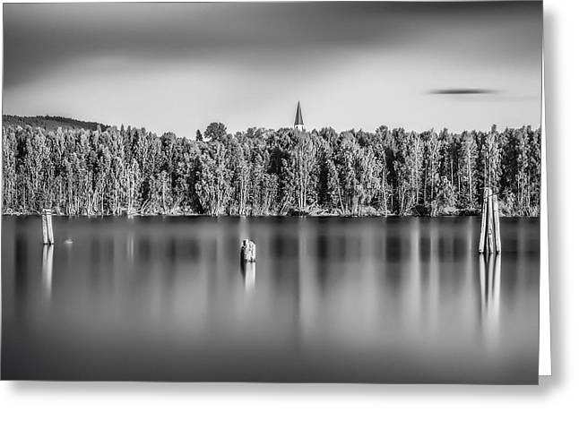 Reserve Greeting Cards - Lake Oyeren Greeting Card by Erik Brede