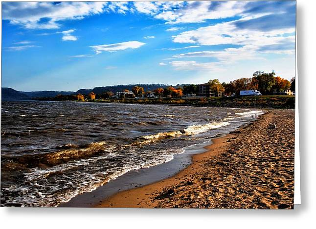 Puddle Mixed Media Greeting Cards - Lake Pepin Greeting Card by Todd and candice Dailey