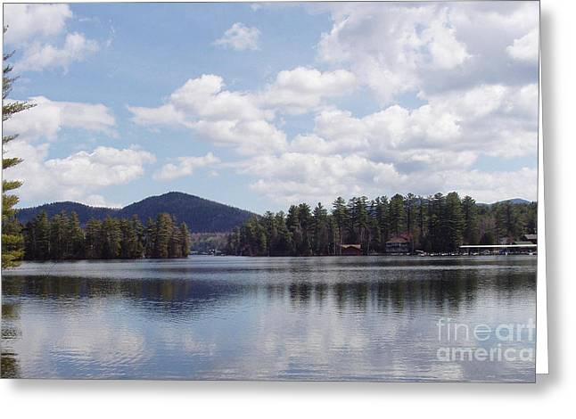 Art In Acrylic Greeting Cards - Lake Placid Greeting Card by John Telfer