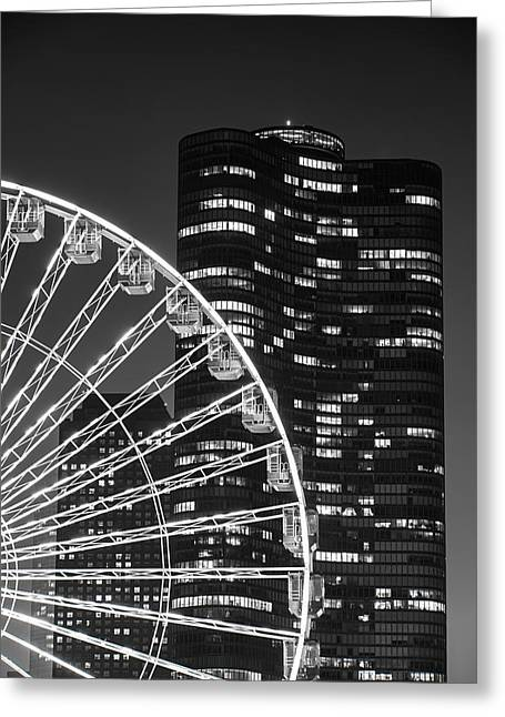 Night Life Greeting Cards - Lake Point Tower Greeting Card by Sebastian Musial