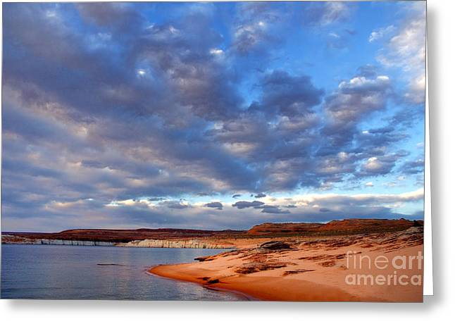 Glen Canyon National Recreation Area Greeting Cards - Lake Powell Morning Greeting Card by Thomas R Fletcher