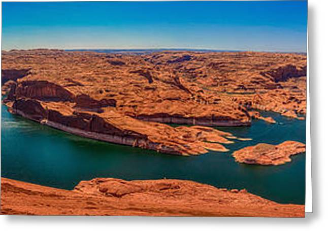 National Park Service Greeting Cards - Lake Powell Panorama HDR Greeting Card by Scotts Scapes