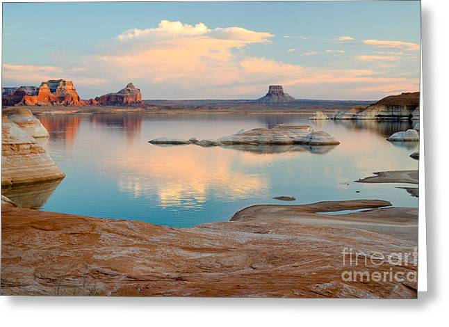 Water Jars Greeting Cards - Lake Powell Tower Butte Greeting Card by Kate Sumners