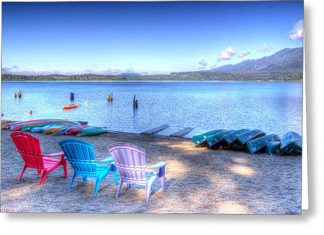 Canoe Greeting Cards - Lake Quinault Dream Greeting Card by Heidi Smith