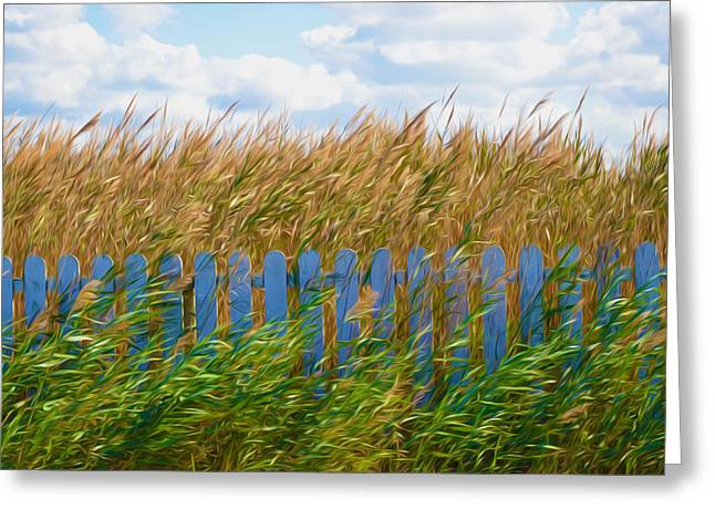 Grass Greeting Cards - Lake reed and wild water plants 1 Greeting Card by Lanjee Chee