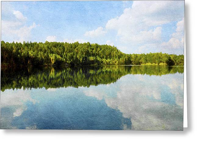 Lake Reflection In Citrus County, Florida Greeting Card by Randi Kuhne