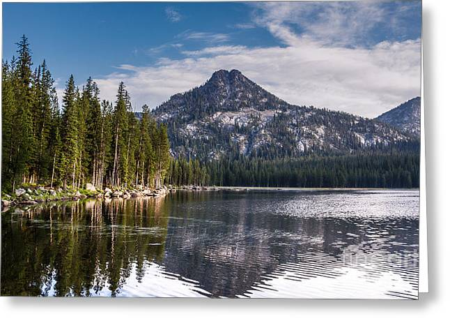 Haybale Photographs Greeting Cards - Lake Reflection Greeting Card by Robert Bales